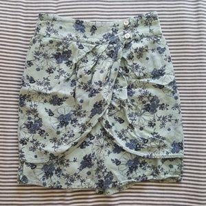 Pale blue tulip skirt